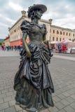 Brązowa statua w Alba Iulia, Rumunia Zdjęcie Stock