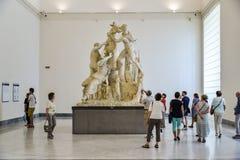 Brązowa statua w Naples Krajowym Archeologicznym muzeum Obraz Royalty Free