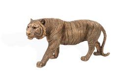 Brązowa tygrysia figurka Obrazy Stock