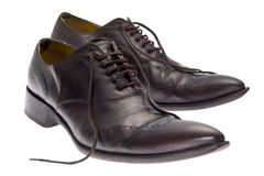 brązowe buty. Obrazy Stock