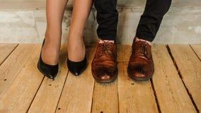 brązowe buty Obraz Royalty Free