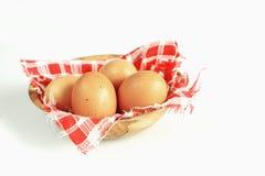 brązowe jajko miski Zdjęcie Royalty Free