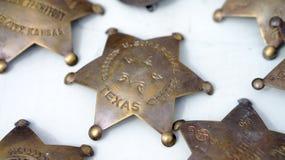 Brązowe szeryf odznaki Fotografia Royalty Free