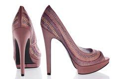 brązowi seksowni buty Zdjęcia Stock