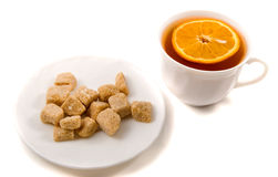 brązowy cukru trzcinowego herbaty. Obraz Stock