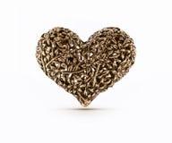 Brązowy dekoracyjny serce Obrazy Royalty Free
