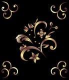 brązowy deseniowy królewski Obrazy Stock