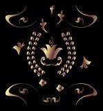 brązowy deseniowy królewski Zdjęcia Stock
