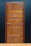 brązowy drzwi Fotografia Stock