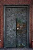 brązowy drzwiowy stary retro Zdjęcie Royalty Free
