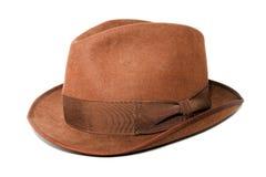 brązowy kapelusz Obrazy Royalty Free