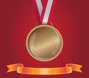 Brązowy Medal, wektor Zdjęcia Stock