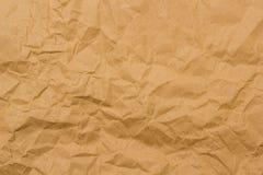 brązowy papier pomarszczone Fotografia Stock