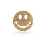 Brązowy smiley symbol Zdjęcia Stock