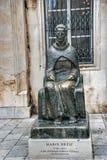 Brązowy zabytek Marina Drzica w Dubrovnik, Chorwacja Zdjęcie Royalty Free