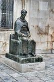 Brązowy zabytek Marina Drzica w Dubrovnik, Chorwacja Fotografia Stock