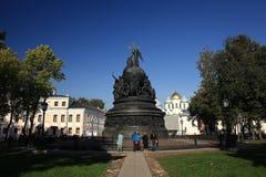 Brązowy zabytek milenium Rosja obraz royalty free