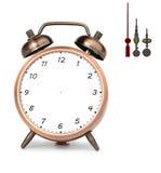 brązu alarmowy zegar Fotografia Royalty Free