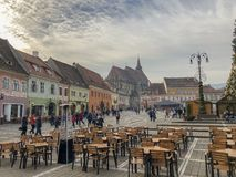 Braşov architecture travels romania royalty free stock photography