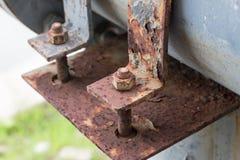 Braçadeira de aço suja Foto de Stock