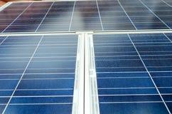 Braçadeira do painel solar Foto de Stock
