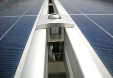Braçadeira solar do painel do picovolt fotografia de stock