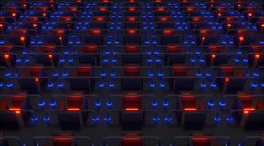 Braçadeiras 3d abstratas Imagem de Stock