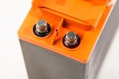 Braçadeiras da bateria acidificada ao chumbo industrial fotografia de stock royalty free