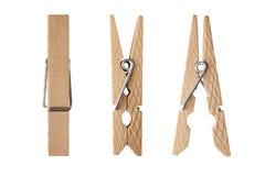 braçadeiras de madeira Fotografia de Stock