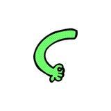 braço cômico do monstro dos desenhos animados Foto de Stock