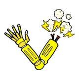braço cômico do robô dos desenhos animados Fotografia de Stock