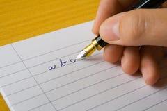 Braço de escrita Fotografia de Stock