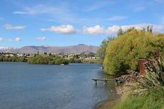 Braço de Frankton, lago Wakatipu, Queenstown, Otago, NZ Fotos de Stock Royalty Free