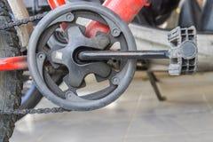Braço do pedal e da manivela da bicicleta Imagens de Stock Royalty Free
