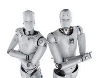 Braço do robô cruzado ilustração royalty free
