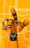 Braço do robô Fotos de Stock