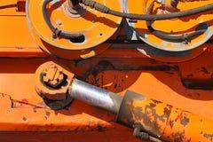 Braço e rodas de Hydrauling Foto de Stock Royalty Free