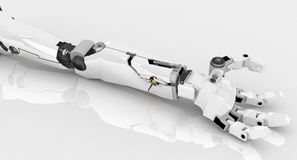 Braço magro do robô, refletido ilustração stock