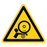 Braço no sinal do símbolo dos rolos, ilustração do vetor, isolado na etiqueta branca do fundo EPS10 ilustração royalty free