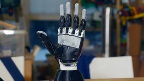 Braço robótico real Conceito social dos media filme