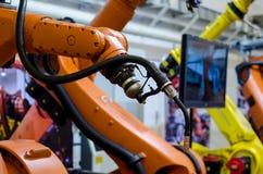 Braços diferentes do robô industrial imagem de stock royalty free