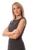 Braços dobrados da mulher de negócio Imagens de Stock
