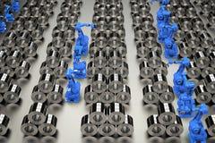 Braços robóticos com rolo das chapas de aço Imagem de Stock Royalty Free