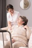 Brać opiekę pacjent Fotografia Royalty Free