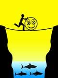 Brać ryzyko dla zabawy royalty ilustracja
