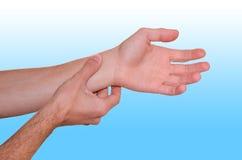 Brać tętno ręką Zdjęcie Stock