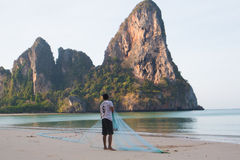 Brać w sieci rybackiej Zdjęcia Royalty Free