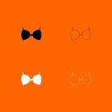 Bra  black and white set icon . Royalty Free Stock Images