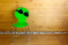 Bra on the chair / woodwn wall / interior Royalty Free Stock Photography