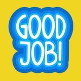 Bra design för Job Sticker Social Media Network meddelandeemblem Royaltyfri Fotografi